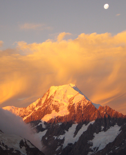 Aoraki  Mount Cook at sunset